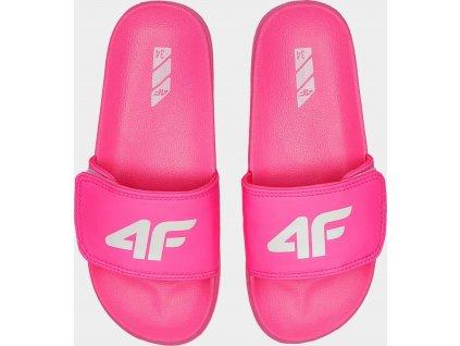 Dívčí pantofle 4F JKLD200 Růžové