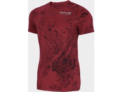 Pánské tričko 4F TSM240 CIEMNA červené allover