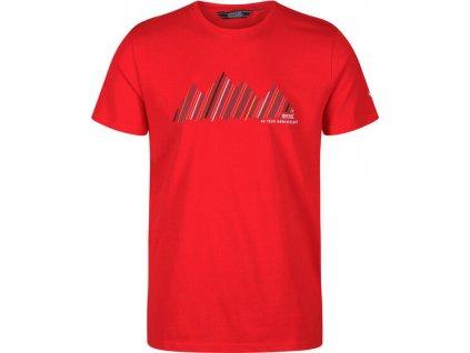 Pánské tričko Regatta RMT214 Breezed 46M červené
