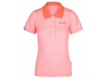 Dámské funkční polo tričko Collar-w světle růžová - Kilpi