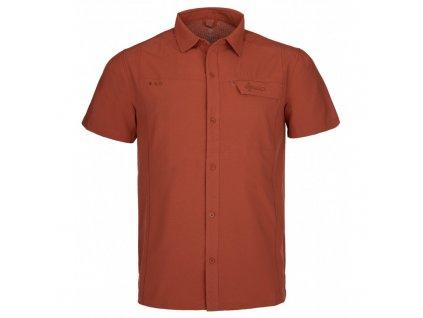 Pánská sportovní košile Bombay-m tmavě červená - Kilpi (NADMĚRNÁ VELIKOST)