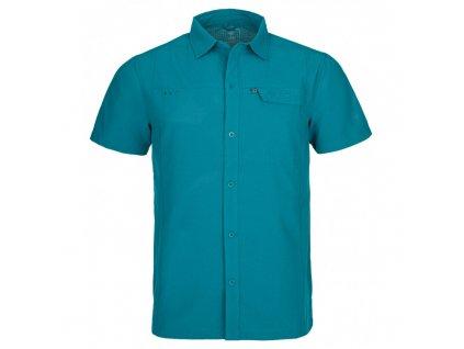 Pánská sportovní košile Bombay-m tyrkysová - Kilpi (NADMĚRNÁ VELIKOST)