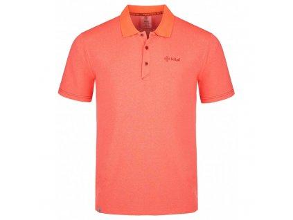 Pánské funkční polo tričko Collar-m korálová - Kilpi (NADMĚRNÁ VELIKOST)