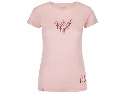 Dámské outdoorové tričko Garove-w světle růžová - Kilpi