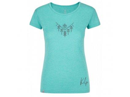 Dámské outdoorové tričko Garove-w tyrkysová - Kilpi
