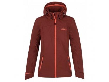 Dámská softshellová bunda Ravia-w tmavě červená - Kilpi (NADMĚRNÁ VELIKOST)