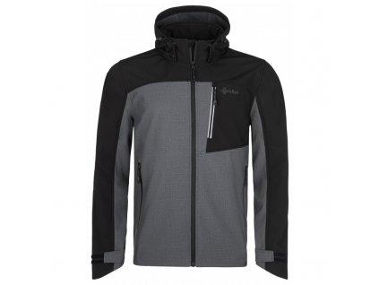 Pánská softshellová bunda Ravio-m tmavě šedá - Kilpi (NADMĚRNÁ VELIKOST)
