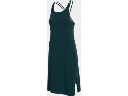 Dámské šaty 4F SUDD013 Tmavě zelené