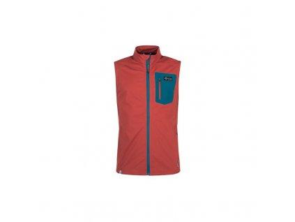Pánská softshellová vesta Tofano-m tmavě červená - Kilpi (nadměrná velikost)