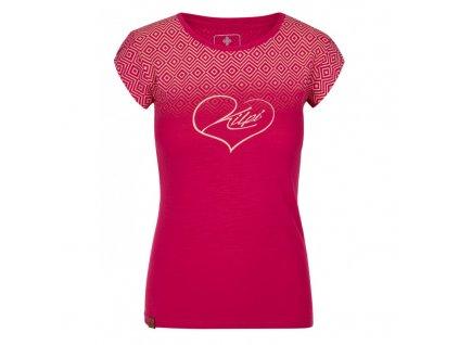 Dámské bavlněné tričko Los-w růžová - Kilpi