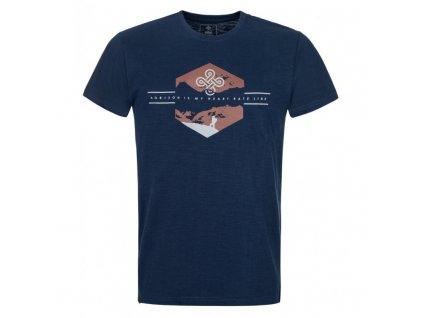 Pánské bavlněné tričko Ferne-m tmavě modrá - Kilpi