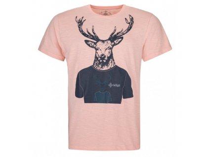 Pánské bavlněné tričko Rizon-m světle růžová - Kilpi