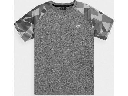 Chlapecké funkční tričko 4F JTSM014 šedé