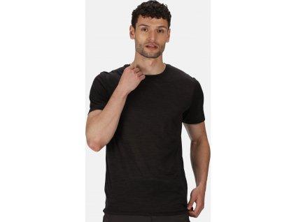 Pánské funkční tričko Regatta RMT237 Fingal Edition 800 Černé