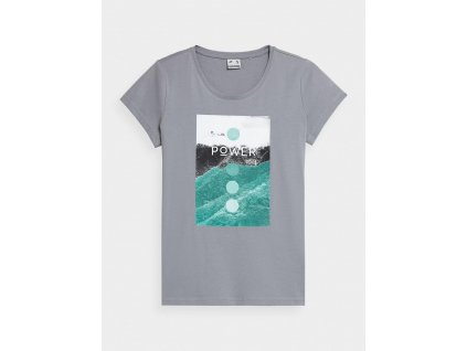 Dámské tričko 4F H4Z21 TSD022 šedé