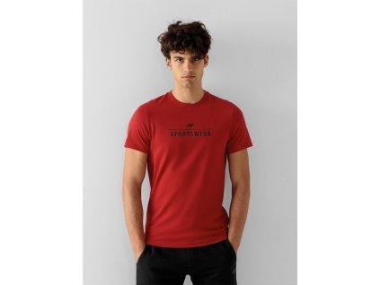 Pánské tričko 4F NOSH4-TSM354 červené