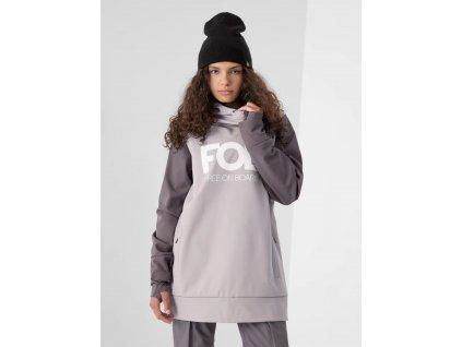 Dámská snowboardová bunda 4F H4Z21 SFD001F světle fialová 01
