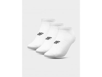 Pánské kotníkové ponožky 4F SOM301 Bílé