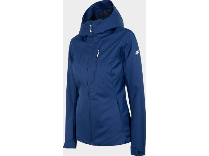 100754 damska outdoorova bunda 4f kud301 tmave modra