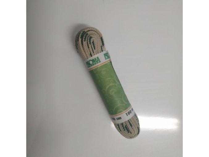 Tkaničky SPORT plochá 270100 PROMA 100 cm Béžová / Zelená