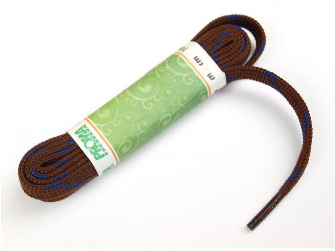 Tkaničky SPORT plochá 270100 PROMA 100 cm HNĚDÁ / MODRÁ