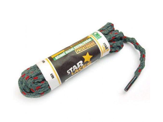 Tkaničky STAR LACES kulatá 123100 PROMA 100 cm ŠEDÁ / ČERVENÁ