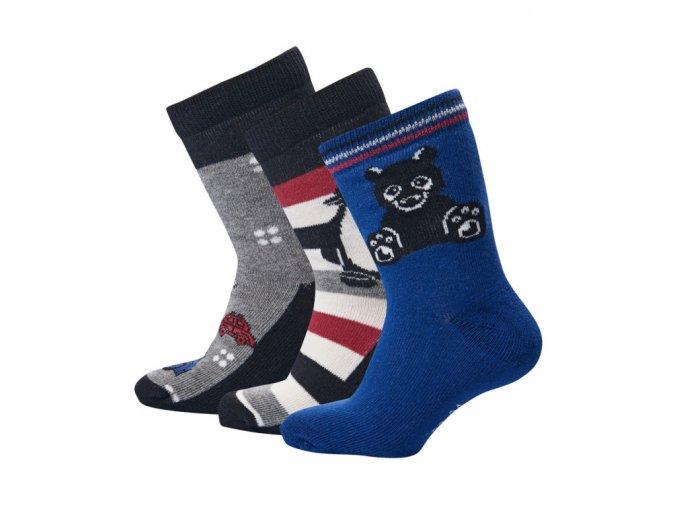 Chlapecké ponožky 3 páry LEGO® Wear ALDO 701 Modrá / Šedá