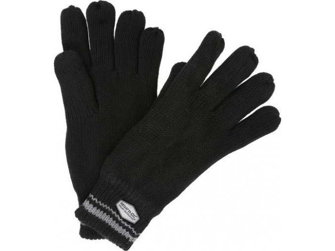 91529 panske pletene rukavice regatta rmg018 balton glove cerna