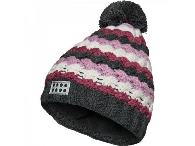 Dívčí zimní čepice LEGO® Wear AIDEN 720 Fialová