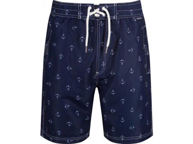 95066 panske sortky plavky regatta rmm008 hadden board shorts ii tmave modre