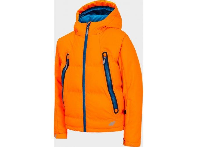 Chlapecká lyžařská bunda JKUMN401 Oranžová neon