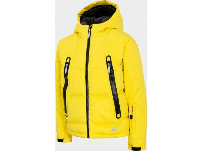 Chlapecká lyžařská bunda 4F JKUMN401 Žlutá