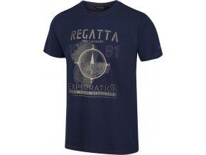 Pánské tričko  REGATTA RMT206 Cline IV Tmavě modré