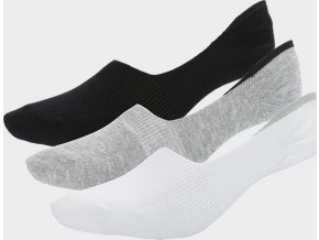 Dámské kotníkové ponožky Outhorn SOD601 Bílé_šedé_černé (3 páry)