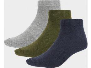 Pánské ponožky Outhorn SOM600 Šedé_khaki_Tmavě modré