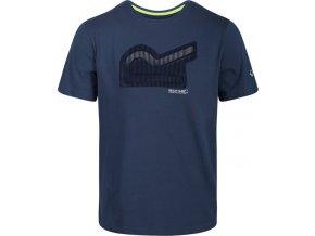 Pánské tričko Regatta RMT214 Breezed Modré