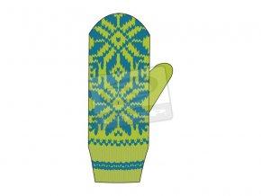 Dámské pletené rukavice Loap CYBOR zelená