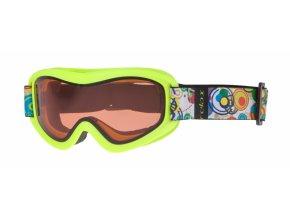 Dětské lyžařské brýle Relax TEDDY HTG33F matná neon žlutá 18 UNI