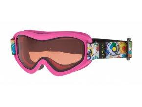 Dětské lyžařské brýle Relax TEDDY HTG33G matná růžová 18 UNI