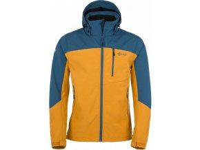 Pánská softshellová bunda KILPI ELIO Modrá/oranžová