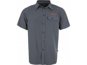 Pánská lehká technická košile KILPI MISHA tmavě šedá
