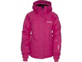 Dívčí zimní lyžařská bunda KILPI AINO-JG růžová