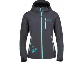 Dámská softshellová bunda KILPI ELIA Tmavě šedá/modrá