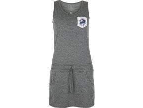 Dámské bavlněné šaty KILPI FANTASIA-W Tmavě šedá