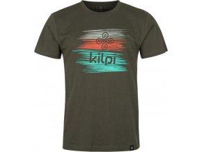 Pánské bavlněné tričko BLOTCH-M KILPI Hnědá