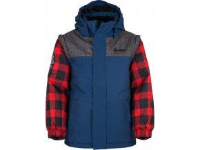 Chlapecká zimní bunda KILPI KIWI-JB Tmavě modrá