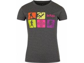 Dámské funkční tričko KILPI SANDORA-W Tmavě šedá