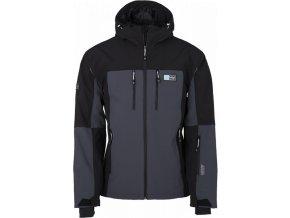 Pánská softshellová lyžařská bunda KILPI VANUATU-M tmavě šedá