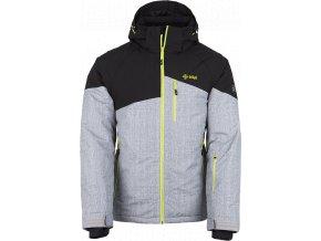 Pánská lyžařská bunda KILPI OLIVER-M Světle šedá