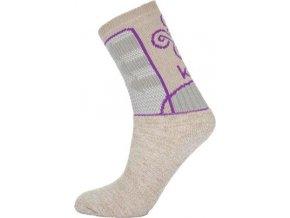 Dámské funkční ponožky KILPI MOHANA-L  Béžová